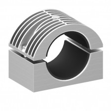 Heavy duty aluminium two bolt cable cleat
