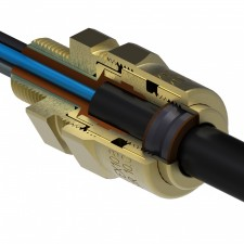 Barrier type explosion proof cable gland for unarmoured cables